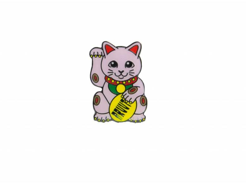 Lucky Cats Pink Pin