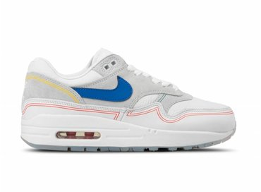 Nike Air Max 1 Pure Platinum Royal Blue White AV3735 002