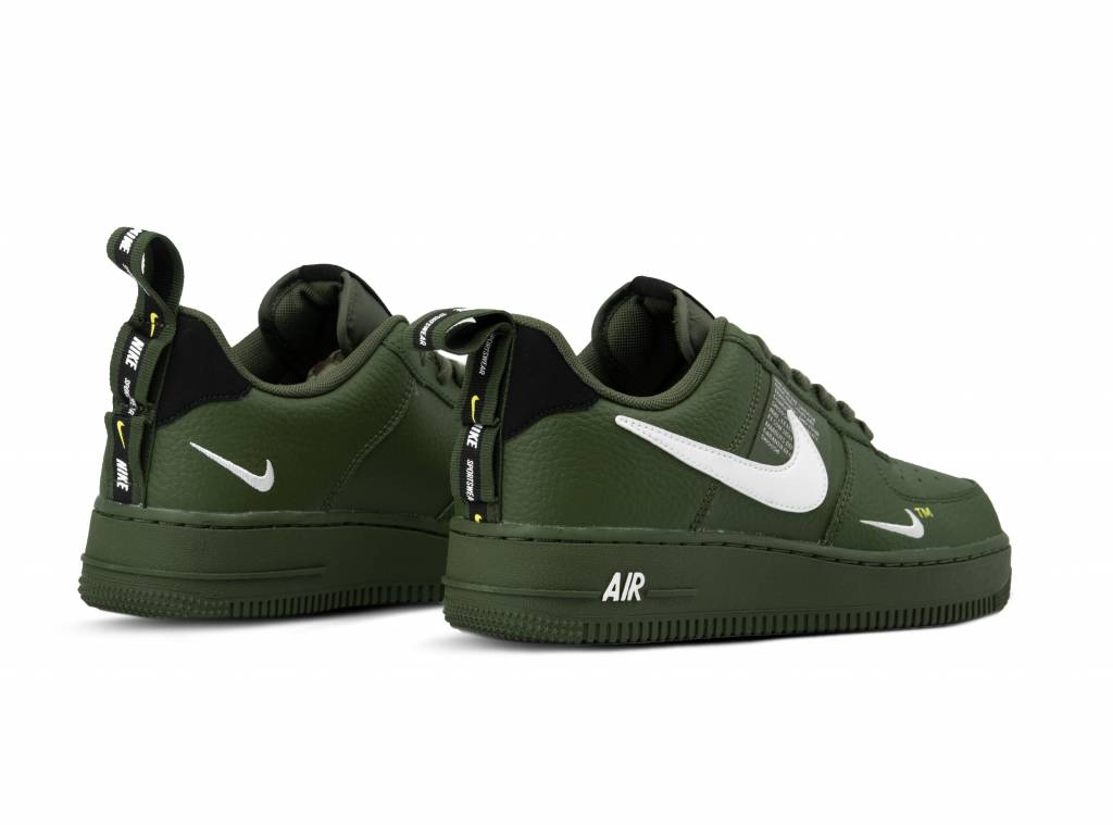 Nike Air Force 1 '07 LV8 Utility Olive Canvas White Black