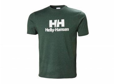 Helly Hansen Logo T Shirt Mountain Green Melange 53165 454
