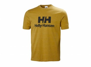 Helly Hansen Logo T Shirt  Golden Glow Melange 53165 343