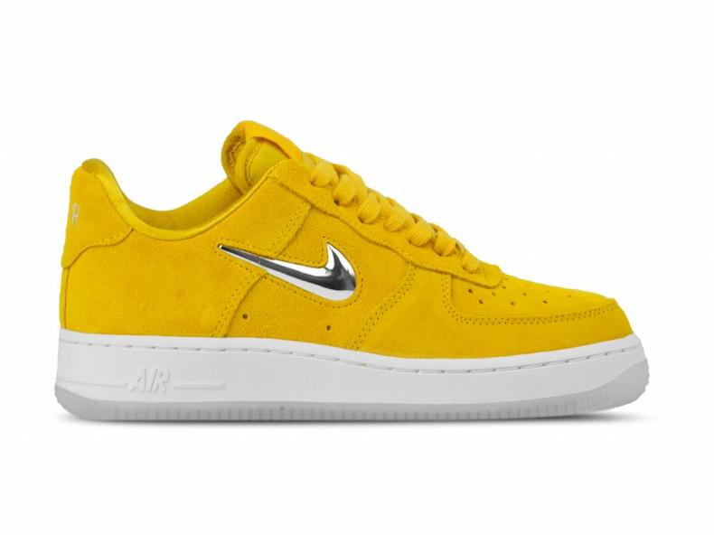 8674269ce6cd4 Nike WMNS Air Force 1 '07 PRM LX Yellow Ochre Metallic Silver AO3814 ...