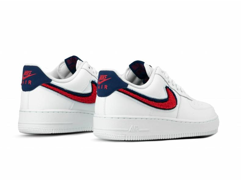 separation shoes 40b89 ab9df Air Force 1  07 LV8 White University Red Blue Void 823511 106
