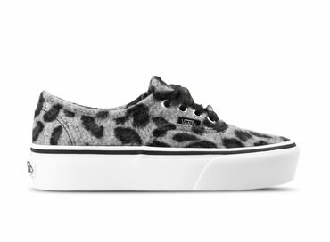 Vans Authentic Platform Fuzzy Snow Leopard True White VN0A3AV8RSP1