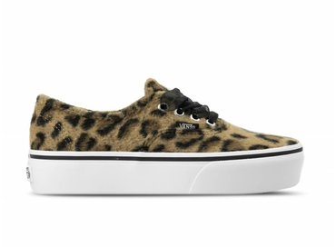 Vans Authentic Platform Fuzzy Leopard True White VN0A3AV8RSO1