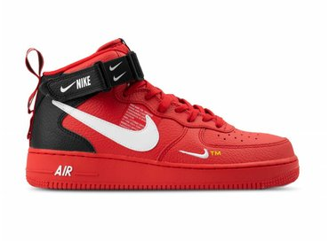 Nike Air Force 1 Mid '07 LV8 University Red White Black 804609 605