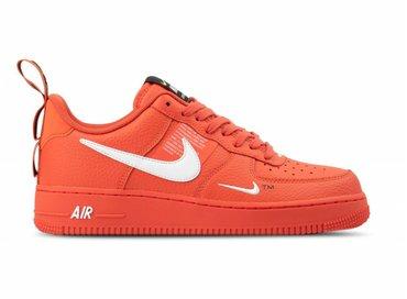 Nike Air Force 1 '07 LV8 Utility Team Orange White Black AJ7747 800