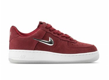 Nike Air Force 1 '07 Premium LX Team Red Metallic Silver White AO3814 600