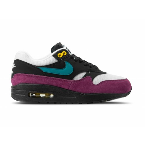 WMNS Air Max 1 Black Geode Teal Light Silver Bordeaux 319986 040