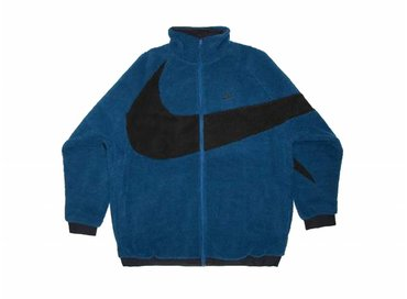 Nike NSW Reverse Swoosh Fullzip Jacket Blue Force Black AJ2701 474