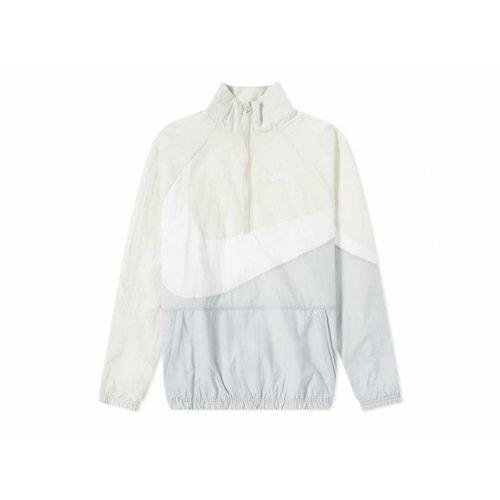 Swoosh Half Zip Jacket Wolf Grey White Light Bone AJ2696 012