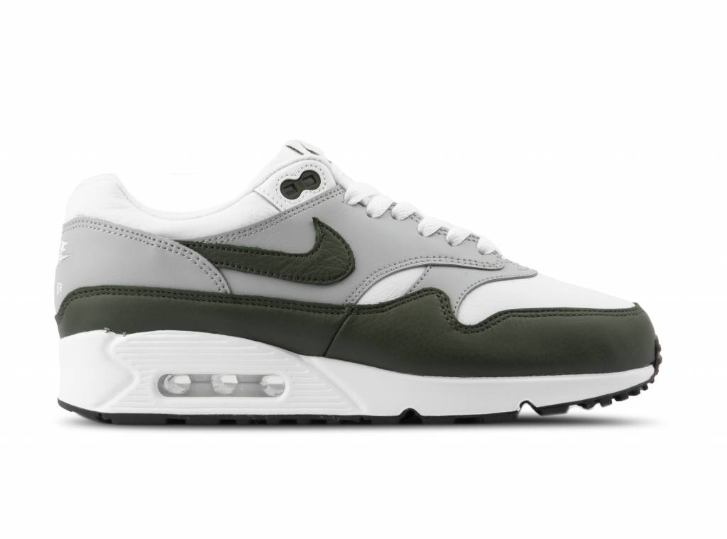 sports shoes 24222 02730 Air Max 90 1 White Cargo Khaki Black AJ7695 107 will be added to your  shopping card
