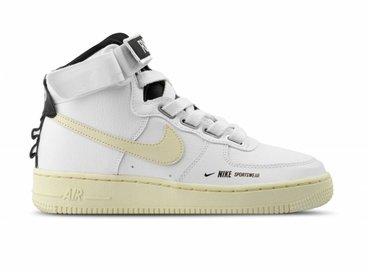 Nike W AF1 Hi Utility White Light Cream Black White AJ7311 100