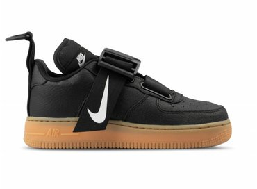 Nike Air Force 1 Utility Black White Gum Med Brown AO1531 002