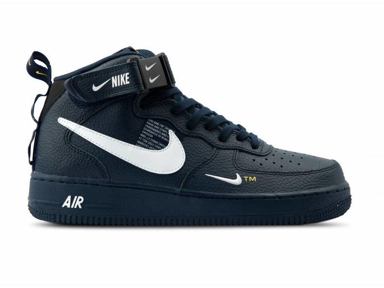new concept 61101 9f286 Nike Air Force 1 Mid '07 LV8 Obsidian White Black 804609 403 | Bruut ...