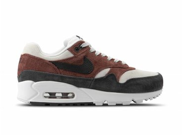 Nike WMNS Air Max 90 1 Red Sepia Oil Grey Vast Grey AQ1273 200