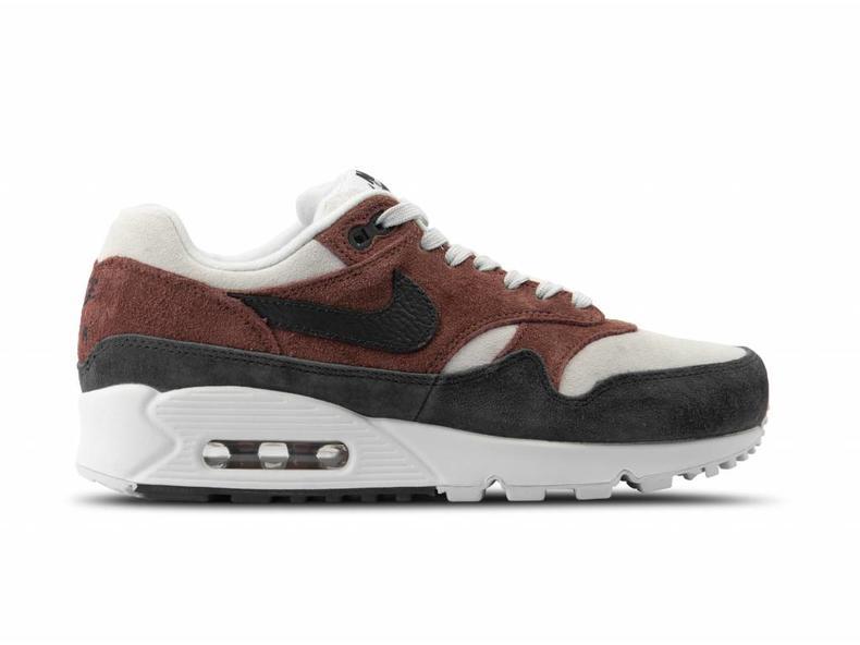 e54a3bcc9d Nike WMNS Air Max 90 1 Red Sepia Oil Grey Vast Grey AQ1273 200 ...