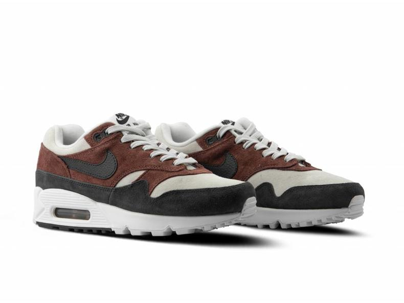 7aca08d6608 Nike WMNS Air Max 90 1 Red Sepia Oil Grey Vast Grey AQ1273 200 ...