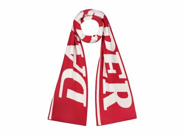 Daily Paper Merino Wool Scarf Red White 18F1AC21 01