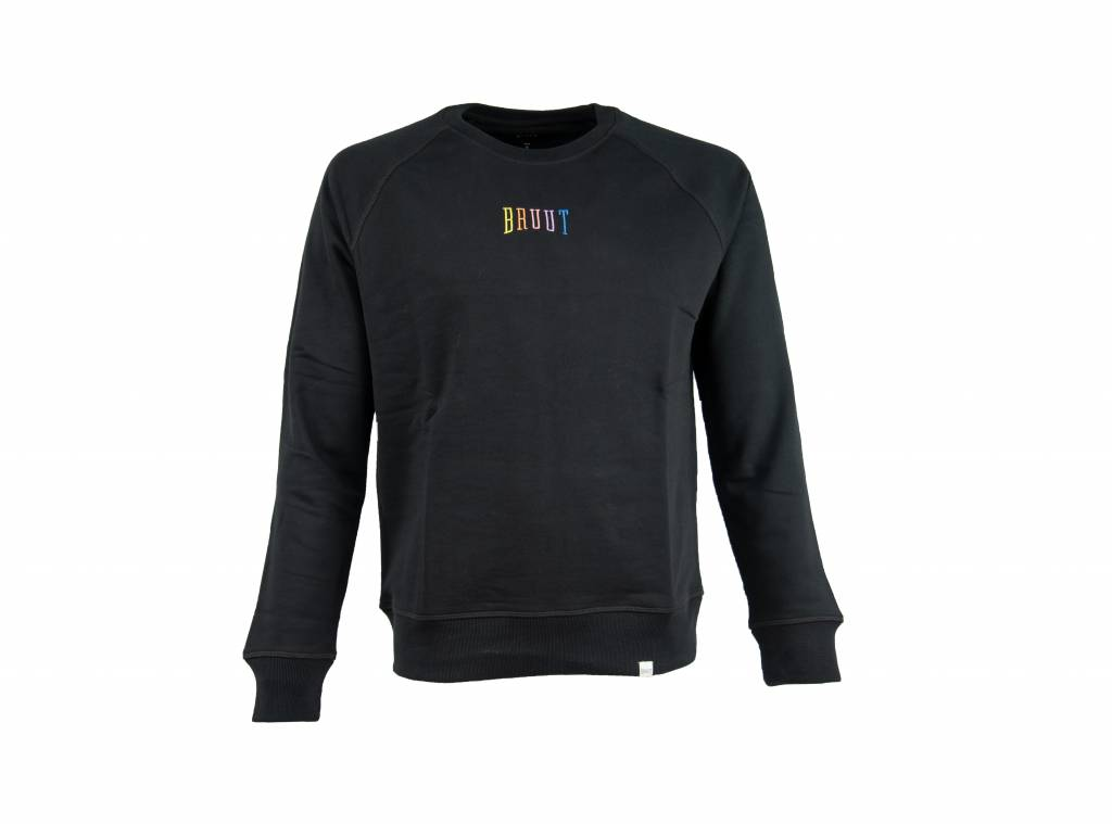 Niban Basic Crewneck Black Rainbow HFD211