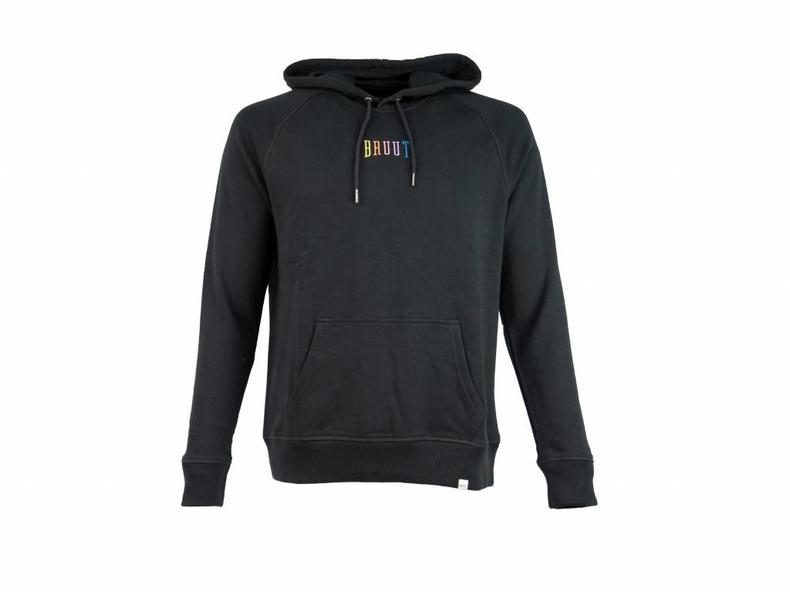 Ichiban Basic Hoodie Black Rainbow HFD312