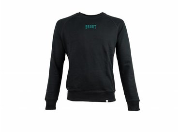 Bruut Niban Basic Crewneck Black Atomic Teal HFD213