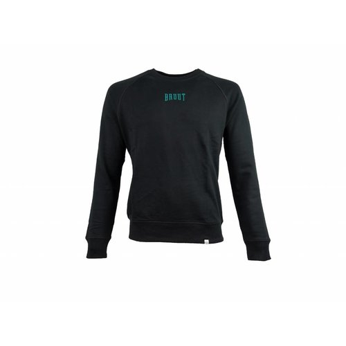 Niban Basic Crewneck Black Atomic Teal HFD213