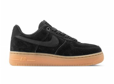 Nike WMNS Air Force 1 '07 SE Black Black Gum Med Brown AA0287 002