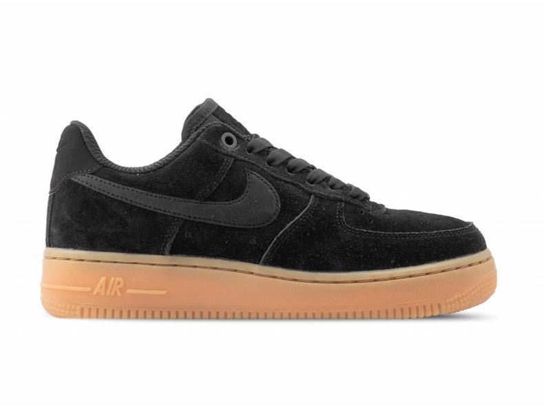 wholesale dealer ecd71 72b60 Nike WMNS Air Force 1 '07 SE Black Black Gum Med Brown AA0287 002 ...