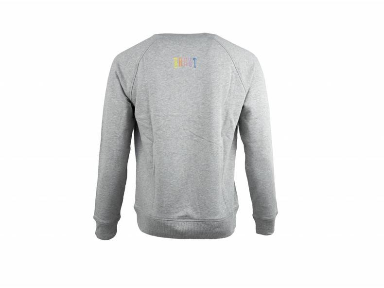 Niban Basic Crewneck Grey Rainbow HFD210