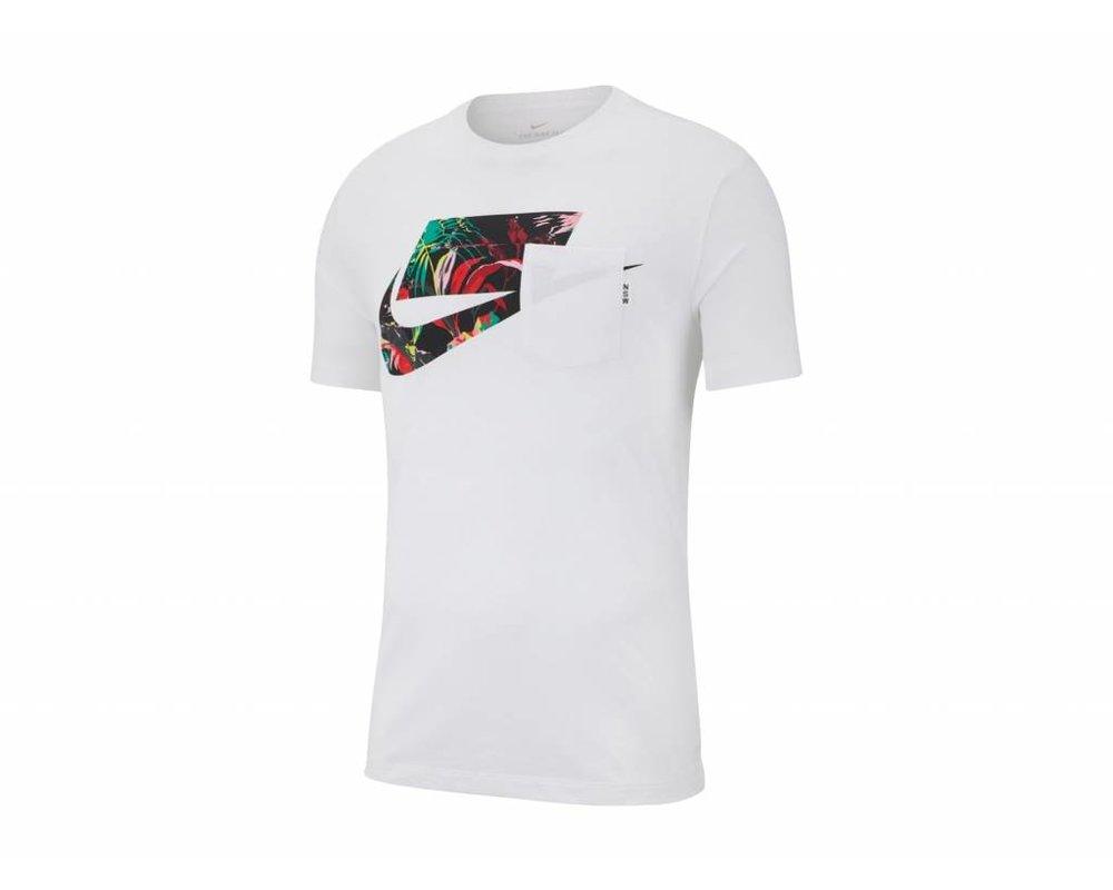 Nike Sportswear NSW Tee White Multi Color AV4913 101