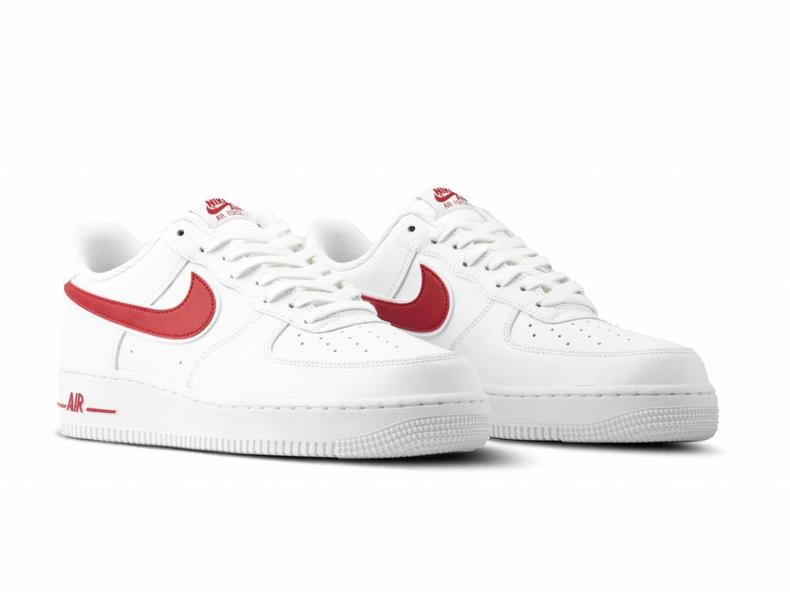 8a0969a1c38a Nike Air Force 1  07 3 White Gym Red AO2423 102