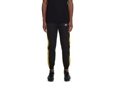 Daily Paper Tape Logo Track Pants  Black Yellow 00N1PA06 02