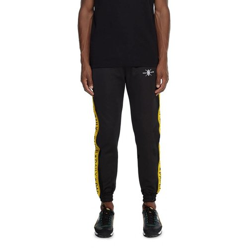 Tape Logo Track Pants  Black Yellow 00N1PA06 02