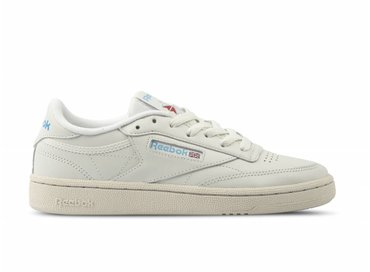 Reebok Club C 85 Chalk Paper White Blue Red V69406