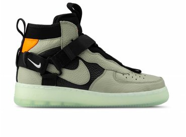 Nike Air Force 1 Utility Mid Spruce Fog Black AQ9758 300