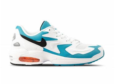 Nike Air Max2 Light White Black Blue Lagoon Laser Orange AO1741 100