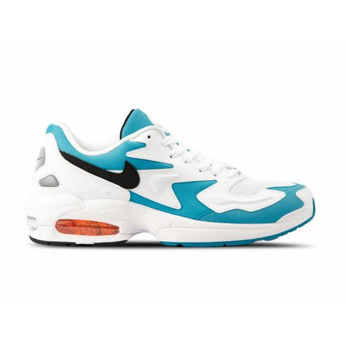 Air Max2 Light White Black Blue Lagoon Laser Orange AO1741 100