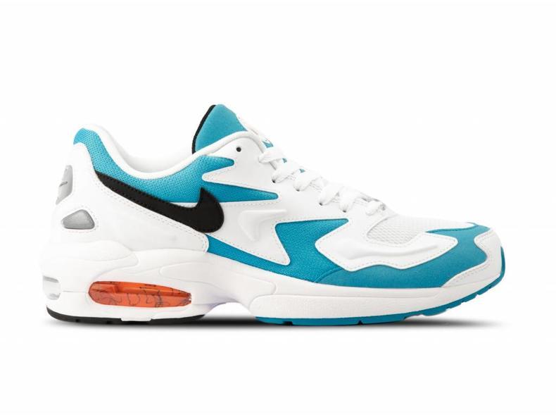 8578c5e425f4 Nike Air Max2 Light White Black Blue Lagoon Laser Orange AO1741 100 ...