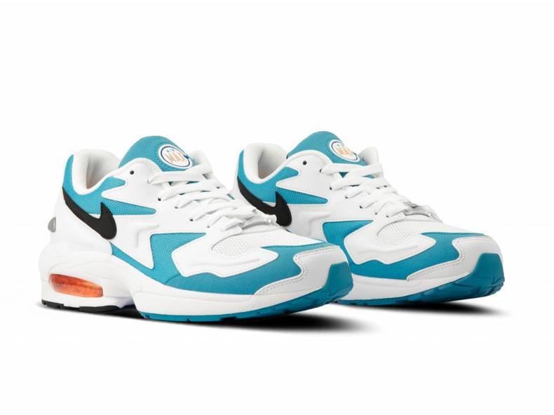 0d0edf531c Nike Air Max2 Light White Black Blue Lagoon Laser Orange AO1741 100 ...