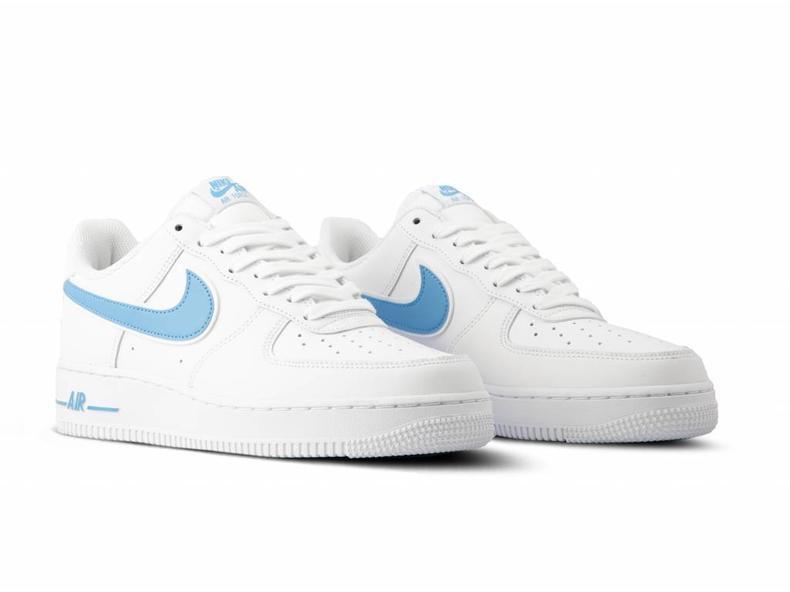 89e30ed7db72 Nike Air Force 1  07 3 White University Blue AO2423 100