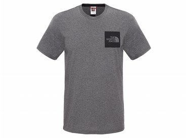 The North Face Fine Tee Medium Grey Heat T0CEQ5DYY