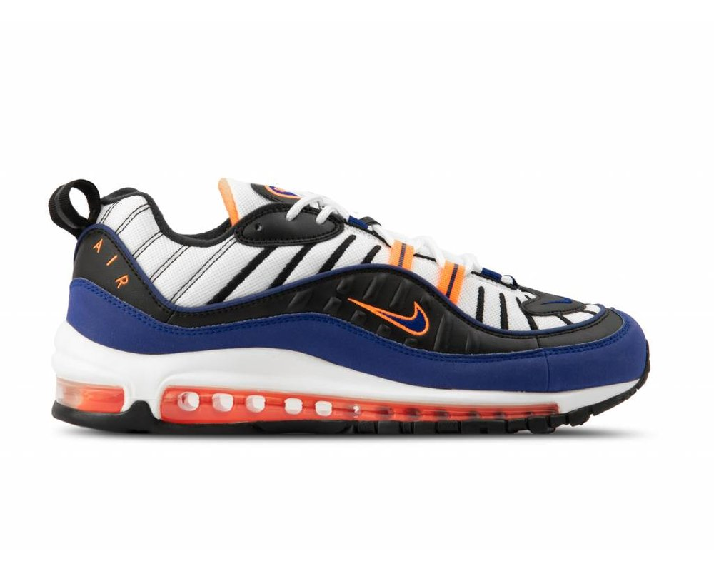 Nike Air Max 98 White Deep Royal Blue CD1536 100