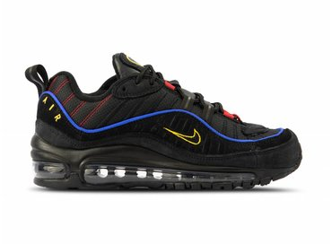 Nike Air Max 98 Black Black Amarillo University Red CD1537 001