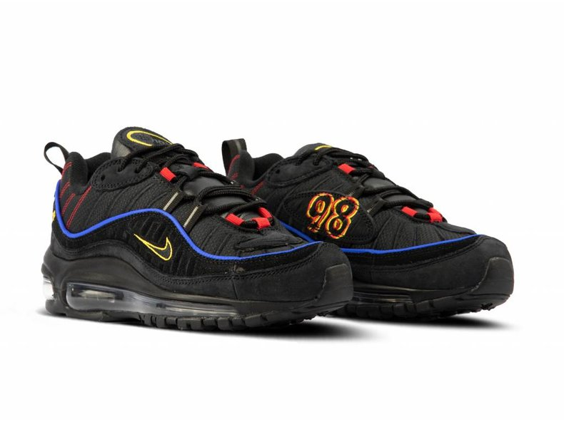 huge selection of 38315 5ab66 Air Max 98 Black Black Amarillo University Red CD1537 001