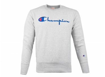 Champion Crewneck Sweatshirt Logo Grey 212576 S19 EM004