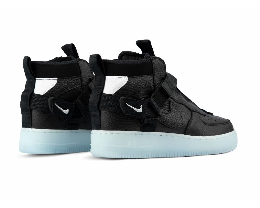 Nike Air Force 1 Utility Mid Black Half Blue White AQ9758