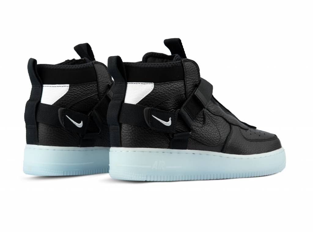 mid black and blue air force 1
