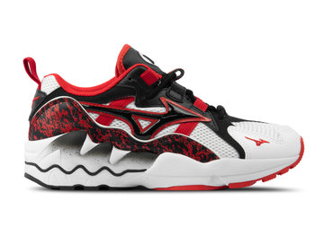 Mizuno Wave Rider 1 White Black High Risk Red D1GA192509
