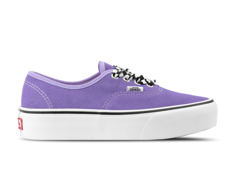 7a5f3a1cac Vans Authentic Platform Checkerboard Lace Violet VN0A3AV8S1V1 ...